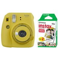 Fujifilm Instax Mini 9 Fuji Instant Film Camera Clear Yellow + 20 Sheets Instant Film