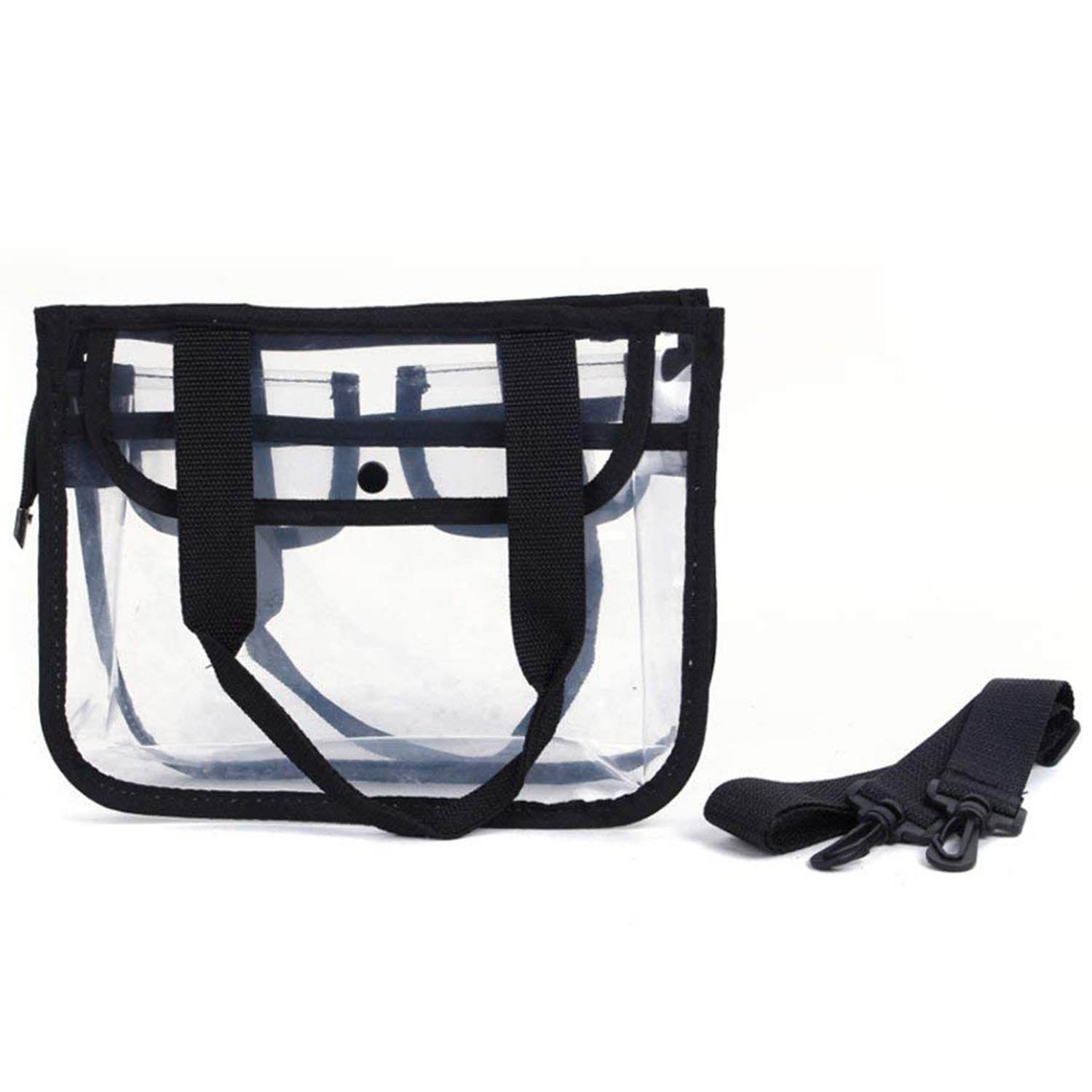CoreLife Clear Stadium Tote Bag for Women Zippered Travel Bag with Strap NFL PGA Approved