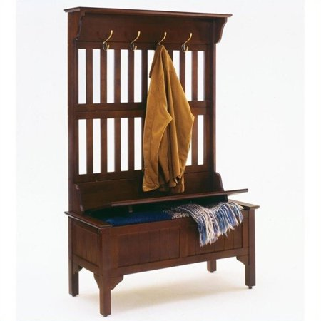 Home Styles Homestead Full Hall Tree Storage Bench in Cherry - image 1 of 2