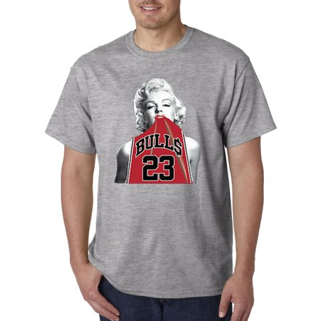 New Way 419 - Unisex T-Shirt Marilyn Monroe Bulls 23 Jordan Red Jersey - Attractions In New Jersey For Halloween
