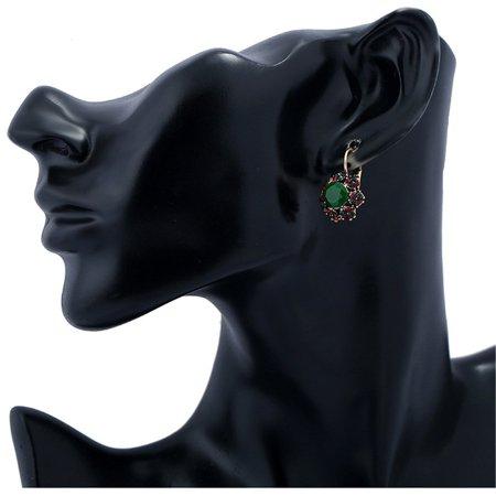 Colorful Crystal Stud Earrings Resin Dangle Earrings Personality Stud Earrings - image 2 of 5