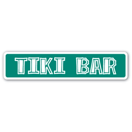 TIKI BAR Street Sign Polynesian bamboo hut drinker outdoor | Indoor/Outdoor |  24