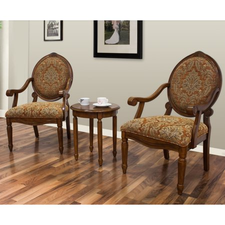 Best master furniture 39 s miranda 3 piece traditional living - 3 piece table set for living room ...