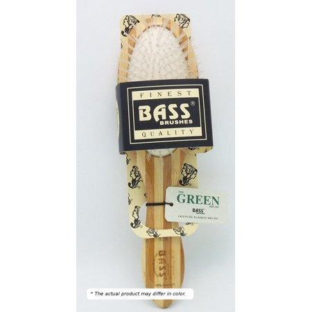 Brush - Purse Size Oval Cushion Nylon Bristle Light Wood Handle Bass Brushes 1
