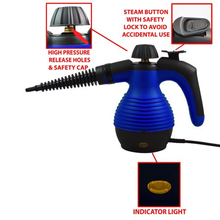 Handheld Steam Cleaner, Multi-Purpose Pressurized Steam Cleaner with 9-Piece Accessories for Stubborn Stains Removal in Bathroom, Kitchen, Surfaces, Floor, Carpet & Much More - image 3 of 6