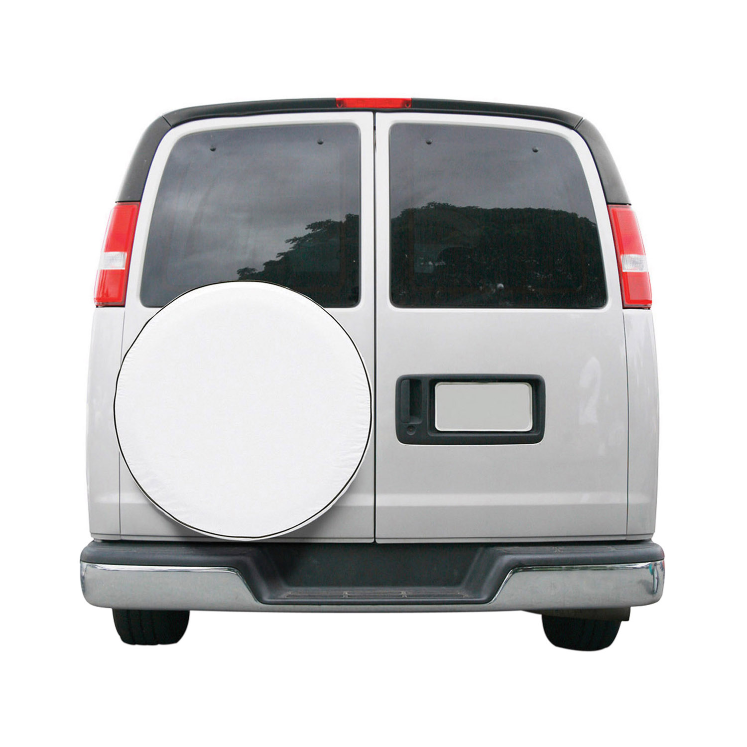 """Classic Accessories OverDrive Universal Fit Spare Tire RV Cover, Fits 26.75"""" - 29.75"""" Wheel Diameter, White"""