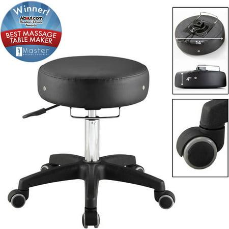 Master Adjustable Rolling Stool Black Walmart Com