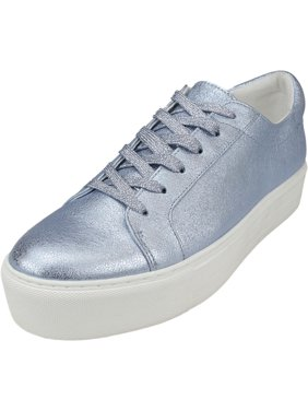 Kenneth Cole Women's Abbey Techni-Cole Blue Ankle-High Leather Sneaker - 8.5M