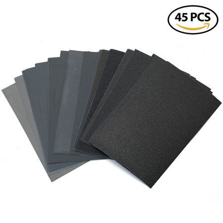 80 to 3000 Grit Dry Wet Sandpaper Assortment - 9 x 5.5