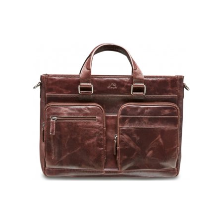 Mancini Burgundy Leather (Mancini Bridge Single Compartment 15.6 Laptop Tote Burgundy)