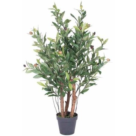 "Vickerman 30"" Artificial Olive Tree in Black Plastic Pot"