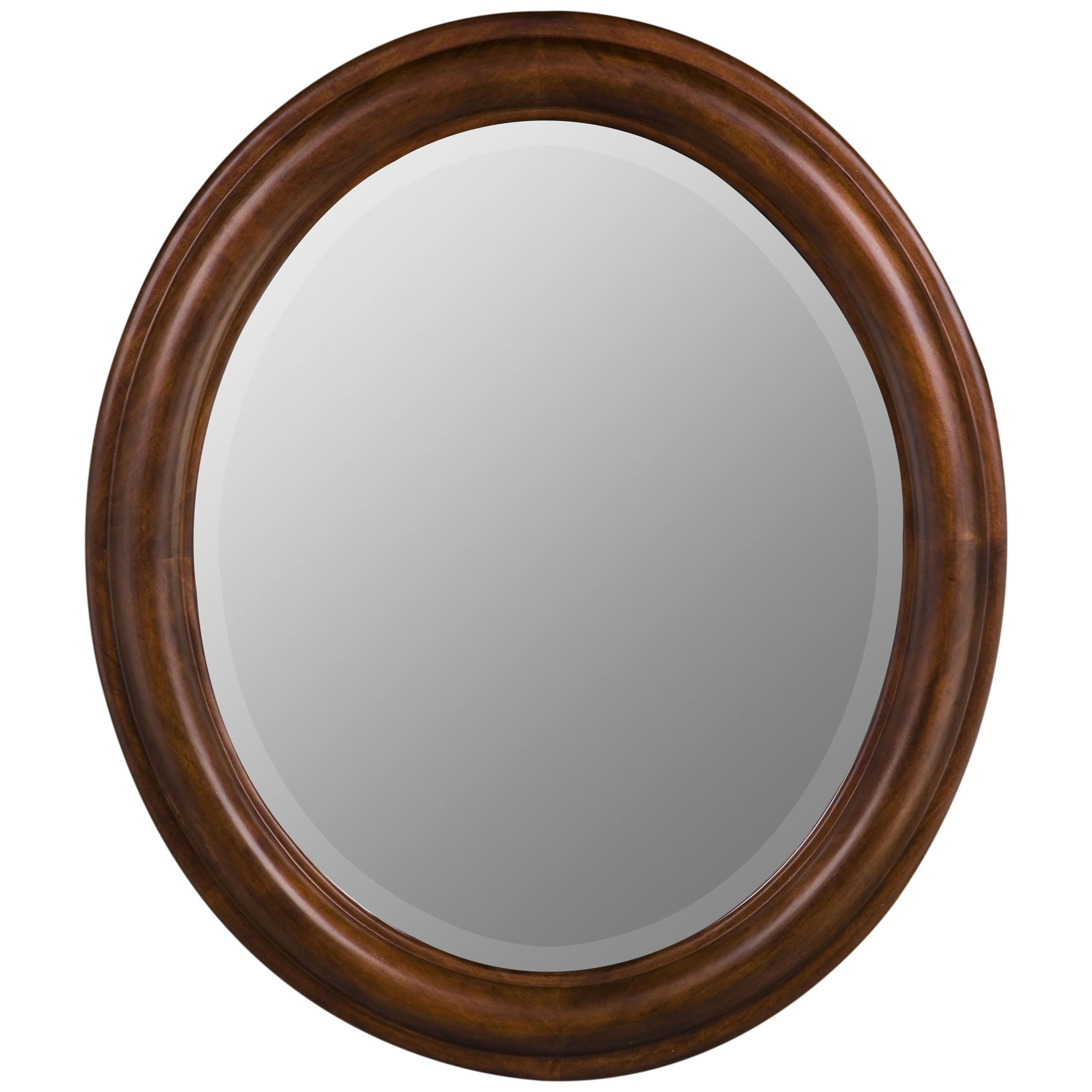 Cooper Classics Addison Oval Mirror Vineyard Finish 26W x 30H in. by Cooper Classics Inc