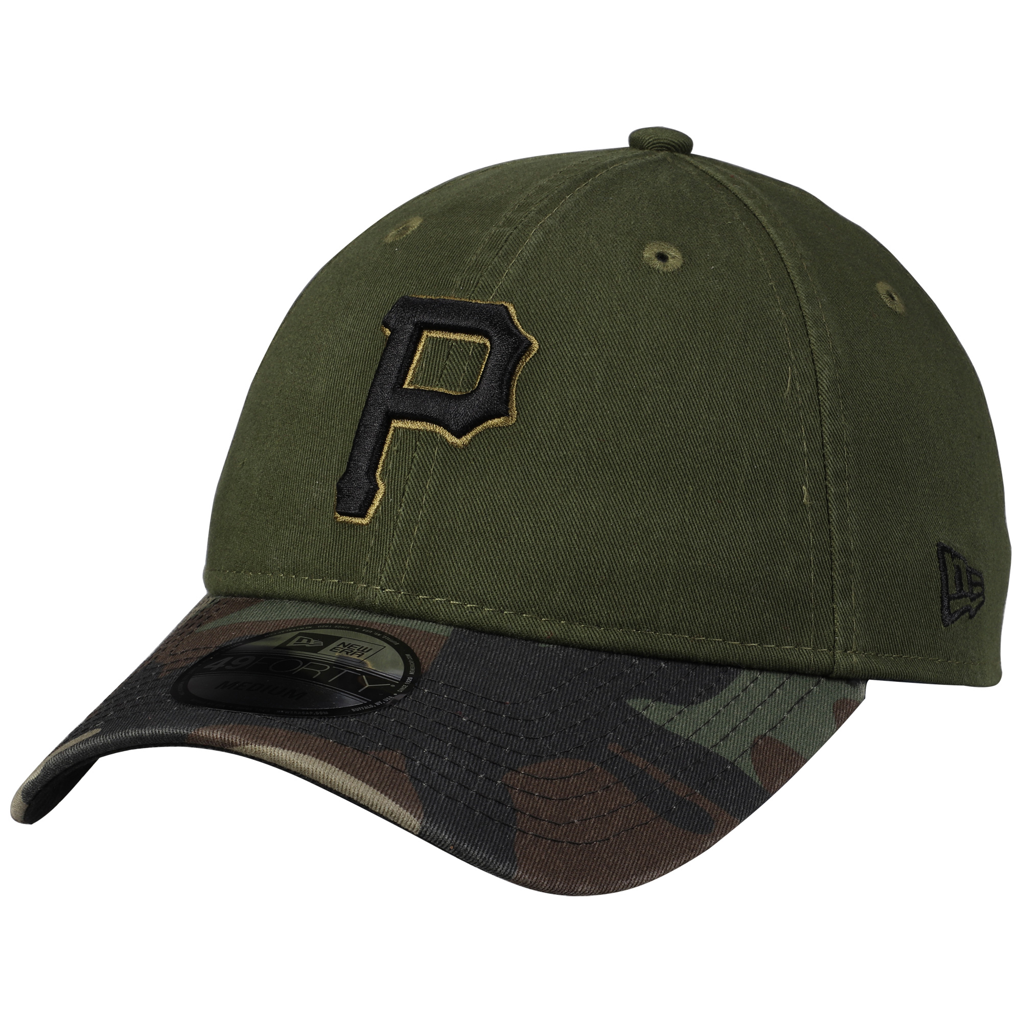 Pittsburgh Pirates New Era Core Fit Replica 49FORTY Fitted Hat - Green