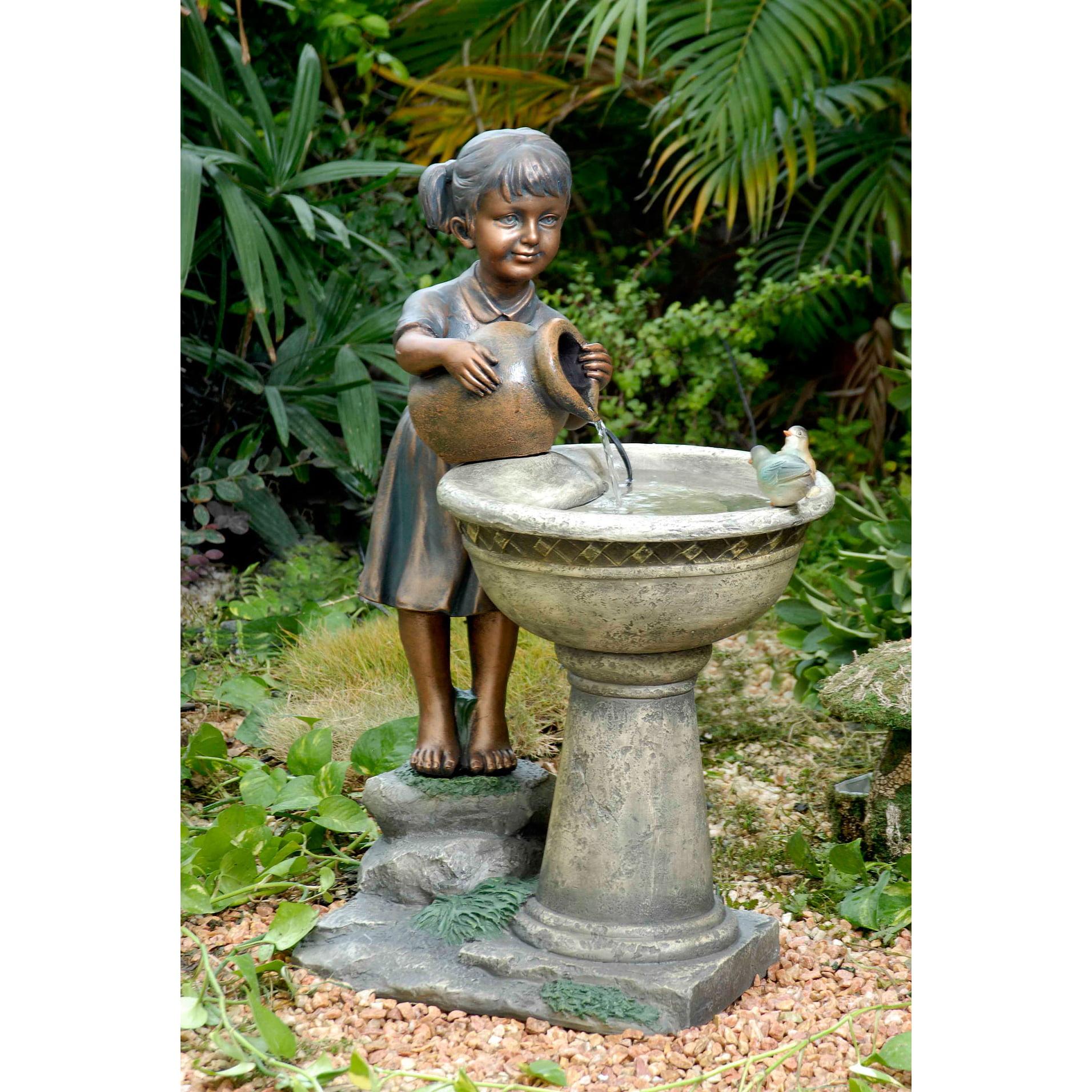 Versando Birdbath Outdoor Water Fountain by