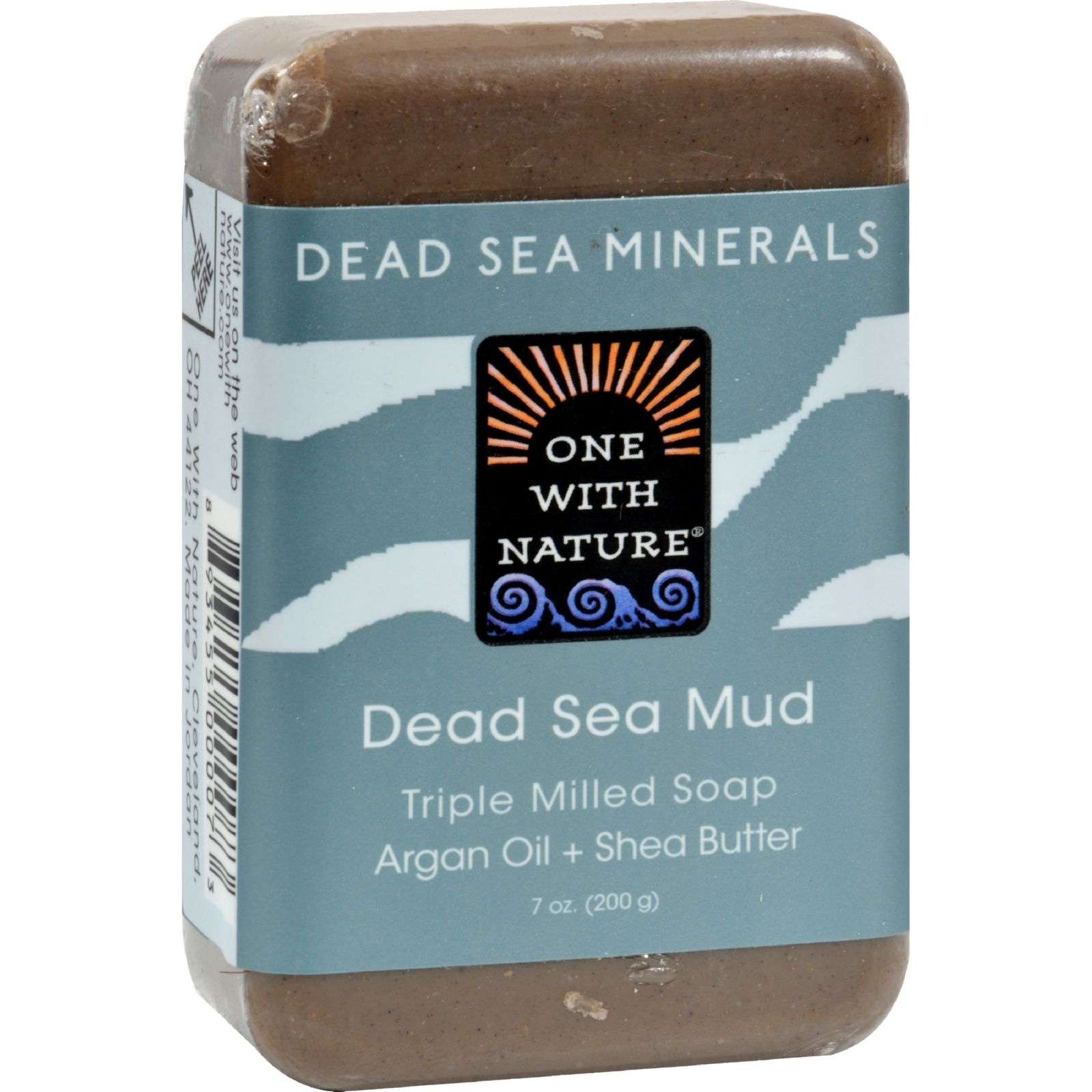 One With Nature Dead Sea Mineral Mud Soap Bar - 7 Oz