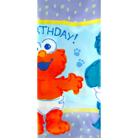 First Birthday Plastic Table Cover (Sesame Street Beginnings 1st Birthday Plastic Table Cover (1ct))