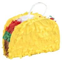 Extra Mini Taco Party Pinata Yellow Mini Party Decoration 6in x 6in