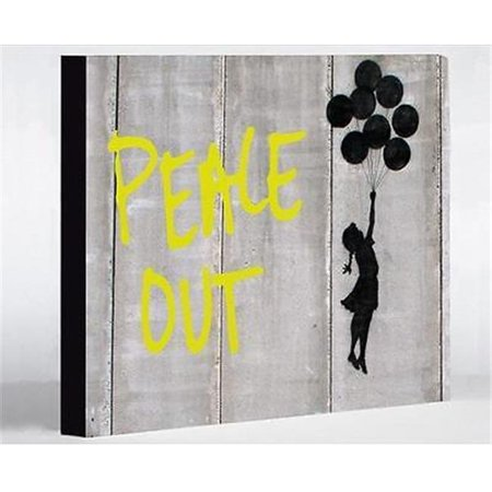 One Bella Casa 72189WD16 16 x 20 in. Balloon Peace Out Canvas Wall ...