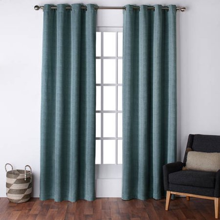 Exclusive Home Virenze Faux Silk Grommet Top Window Curtain Panels 54 X 96 Marine Set Of 2