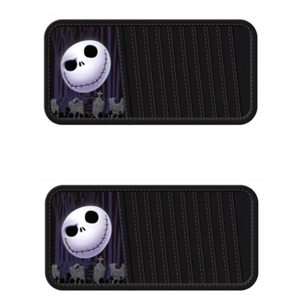 Nightmare Before Christmas Jack Skellington Graveyard Disney Cartoon Character 10 CD/DVD Car Truck SUV Visor Organizers - PAIR, Officially licensed Disney product.., By LA Auto Gear