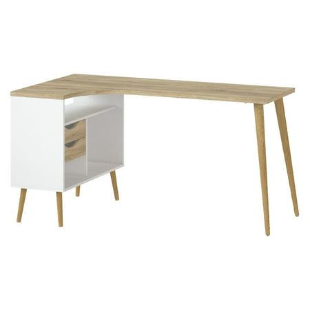 Diana 2 Drawer 3 Shelf Desk White Oak Structure