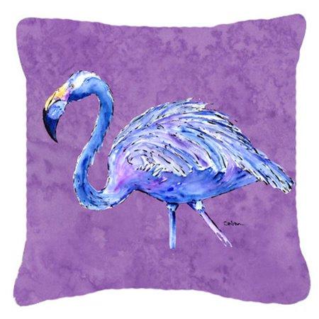 Carolines Treasures 8874PW1818 Coussin d-coratif en tissu Flamingo On, violet, 18 x 18 po - image 1 de 1