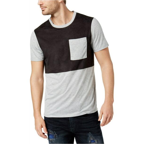 Guess Mens Faux Suede Basic T-Shirt