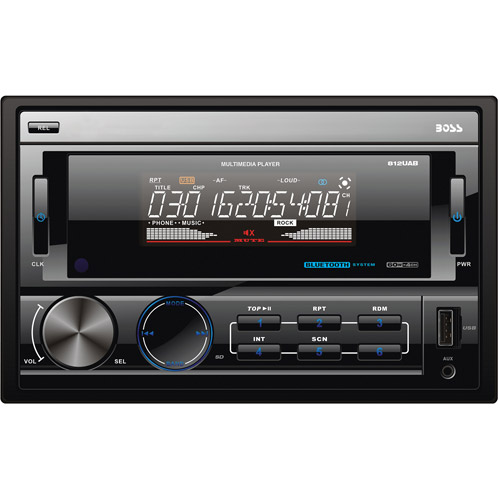 Boss Audio 812UAB - Double-DIN MECH-LESS Multimedia Player (no CD or DVD) with Detachable Front Panel and Bluetooth