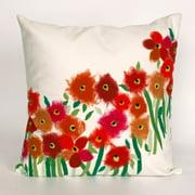 Liora Manne Poppies Indoor / Outdoor Throw Pillow