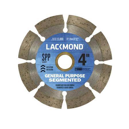 Lackmond 4-inch Segmented Rim Diamond Blade for Dry Cutting Cutting Segmented Rim Diamond Blade