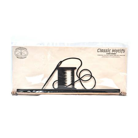 Classic Motifs Needle & Thread 22 Inch Charcoal Fabric