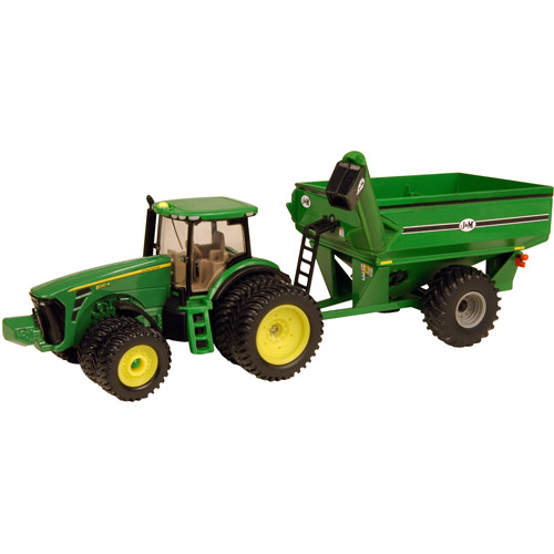 Click here to buy John Deere 1 64 Scale 8320R Tractor with J&M Grain Cart by TOMY.
