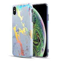 Apple iPhone XS Max Case, by Insten Lightning Marble TPU Rubber Candy Skin Case Cover For Apple iPhone XS Max
