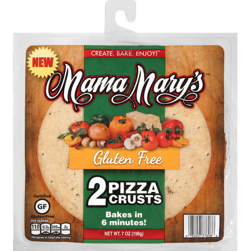 Mama Mary's Gluten Free Pizza Crusts, 2 count, 7 oz