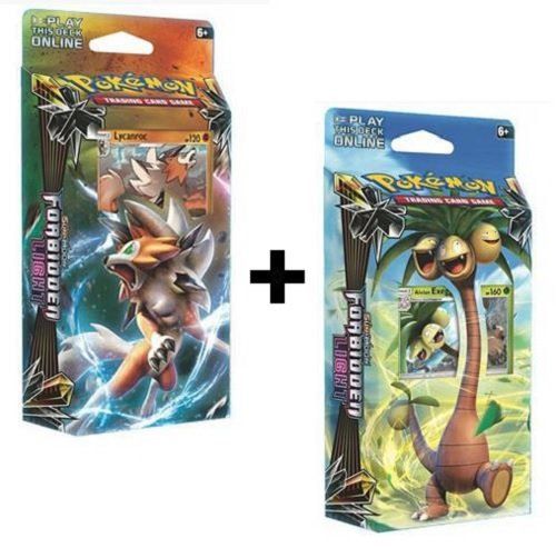 Pokemon TCG: Sun & Moon Forbidden Light Both Theme Decks Exeggutor and Lycanroc