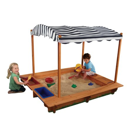 Kidkraft Backyard Sandbox kidkraft outdoor sandbox with canopy - navy & white - walmart