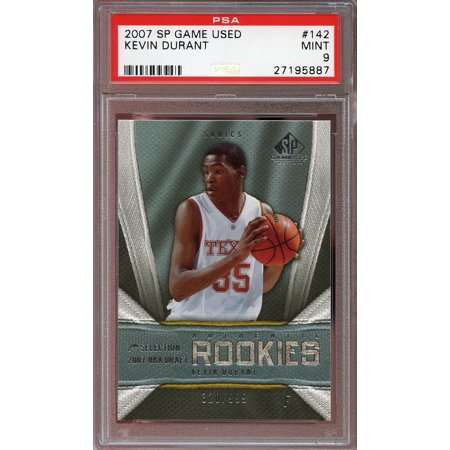 2007 08 Sp Game Used  142 Kevin Durant Okc Thunder Rookie Card Psa 9