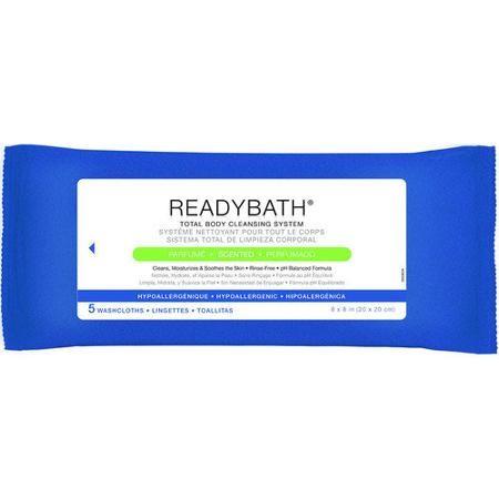 Medline ReadyBath Complete Washcloths, Scented, 5 Ct