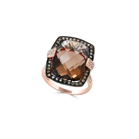 Sienna Diamond, Smoky Quartz and 14K Rose Gold Ring - Ring Bearer Clothing