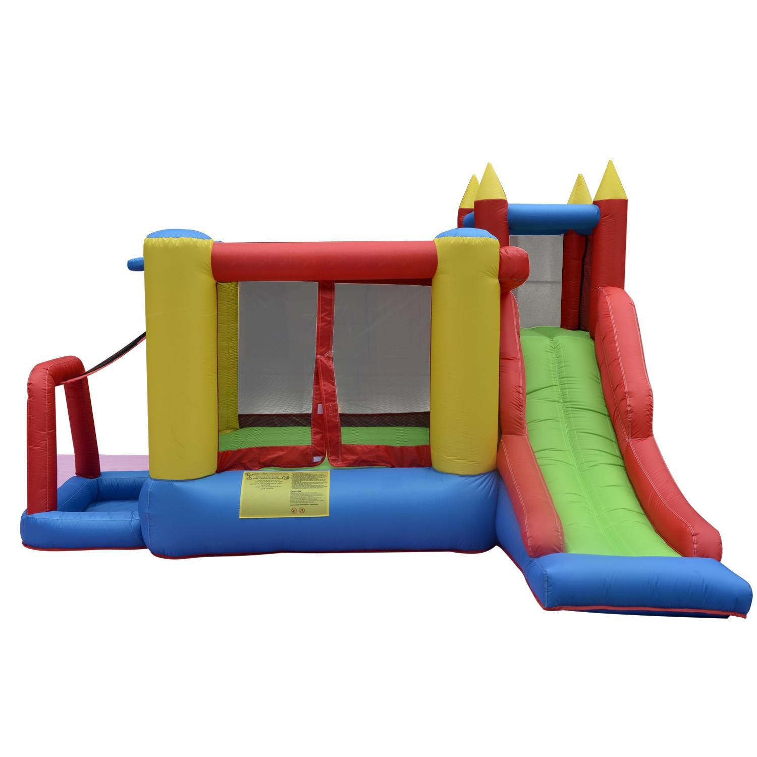 Black Friday SALES Inflatable Bounce House Castle Jumper Bouncer for Children Kids Without Blower OTST