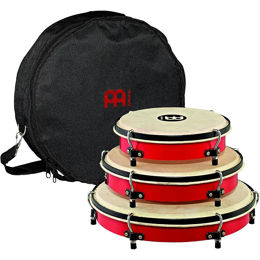 Meinl Plenera Set of 8, 10, & 12 ABS Frames with Goat Skin Heads & Nylon Bag by Meinl