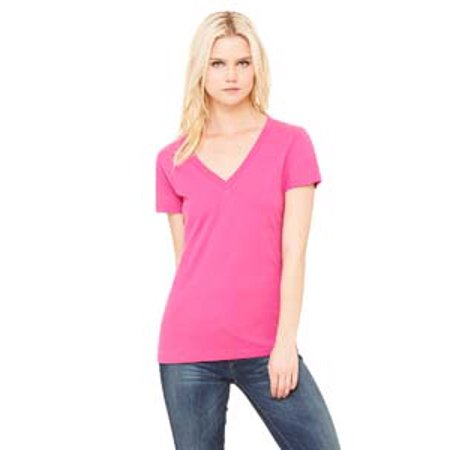 Bella + Canvas Ladies' Jersey Short-Sleeve Deep V-Neck -