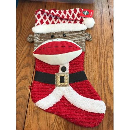 Santa Monkey Christmas Stocking Ships N 24h