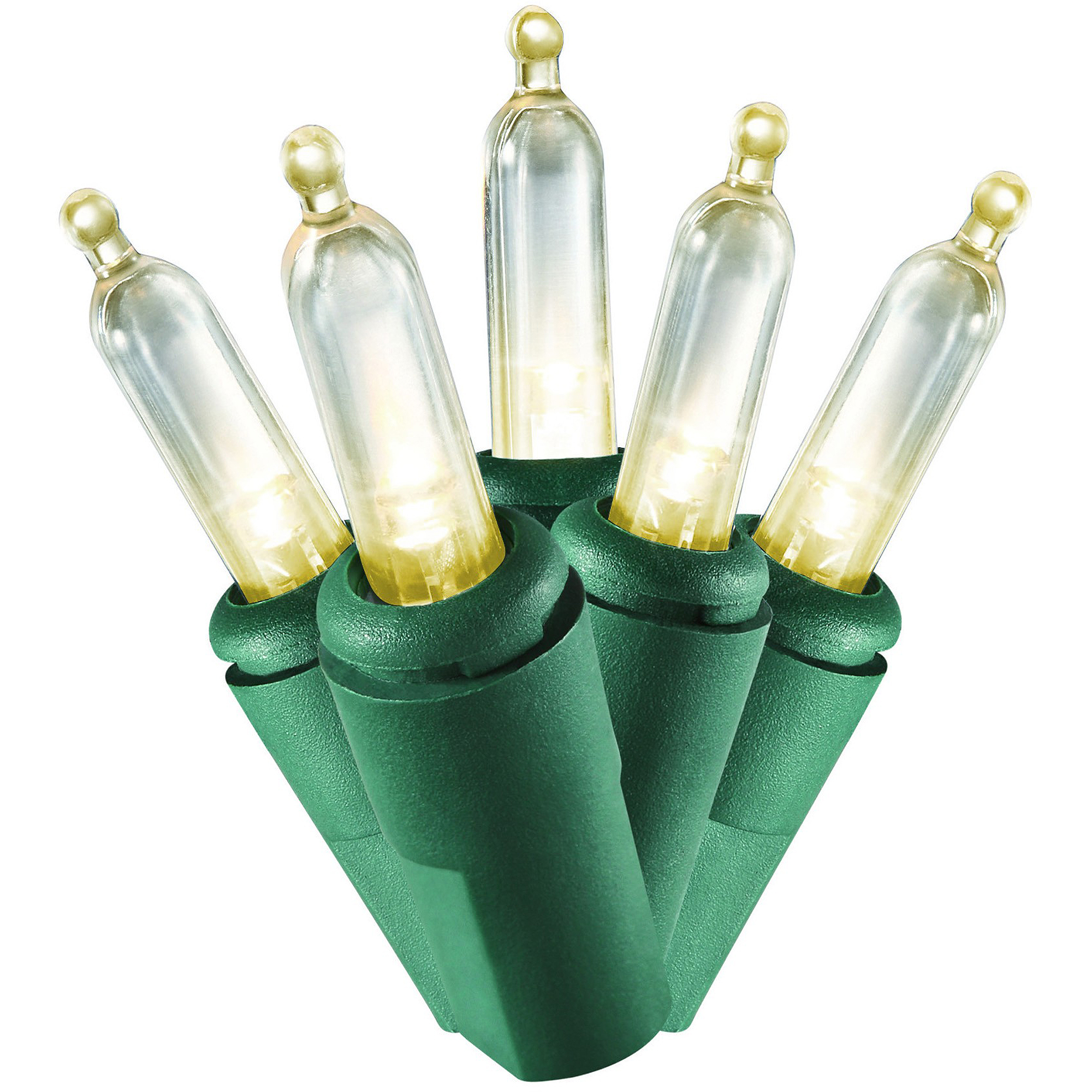 Holiday Time Christmas Lights LED Clear Mini Lights, 100-Count