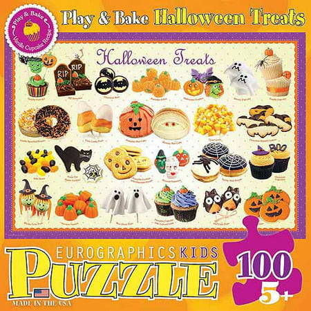 Halloween Treats 100-Piece Puzzle - Halloween Math Puzzle High School