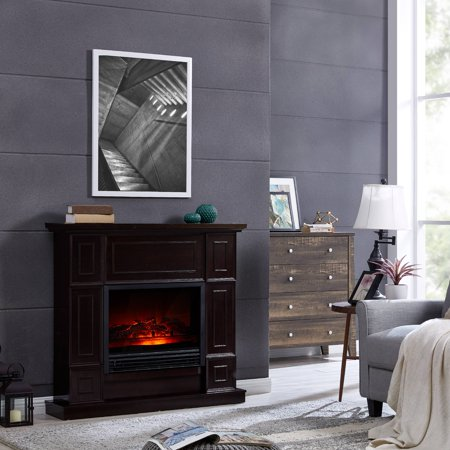 Bold Flame 43.31 inch Electric Fireplace in Dark Chocolate - Fire & Flames