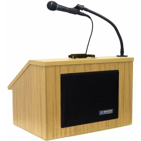 AMPLIVOX SOUND SYSTEMS S272-MO Lectern, Table Top, Medium Oak