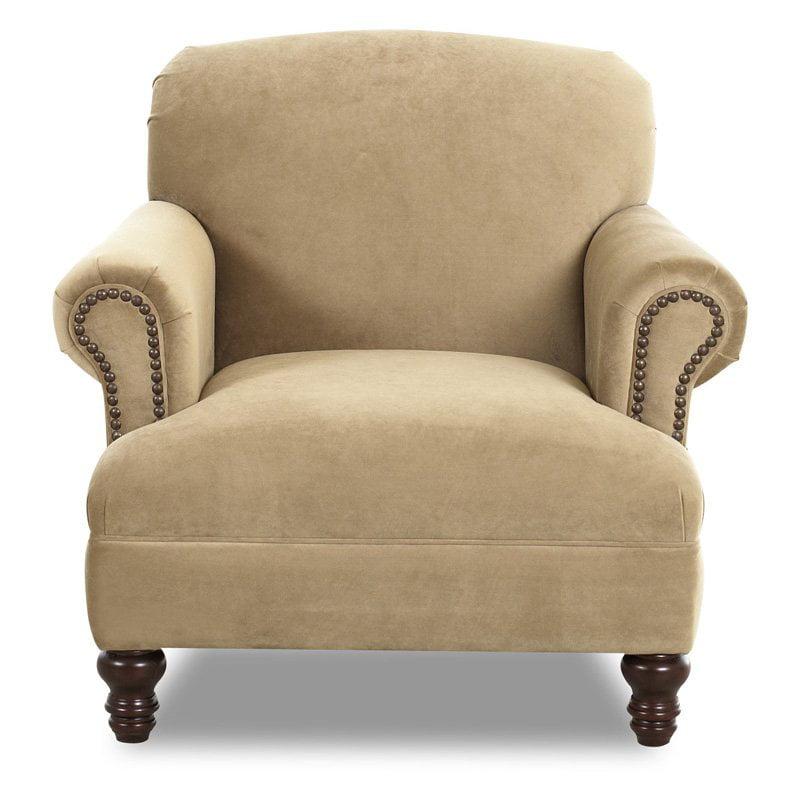 Klaussner Barnum Nailhead Trim Club Chair by Klaussner