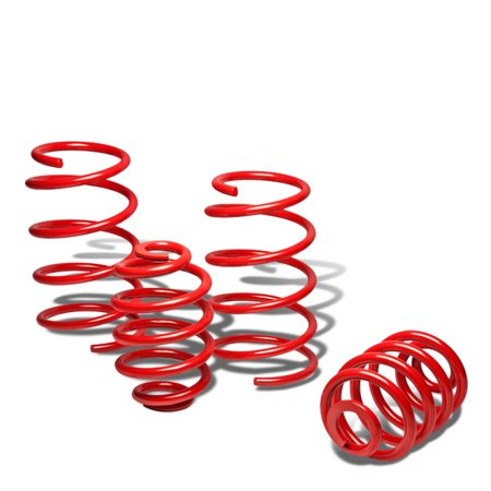 For 2004 to 2007 Saturn Ion Suspension Lowering Spring (Red) 05 06