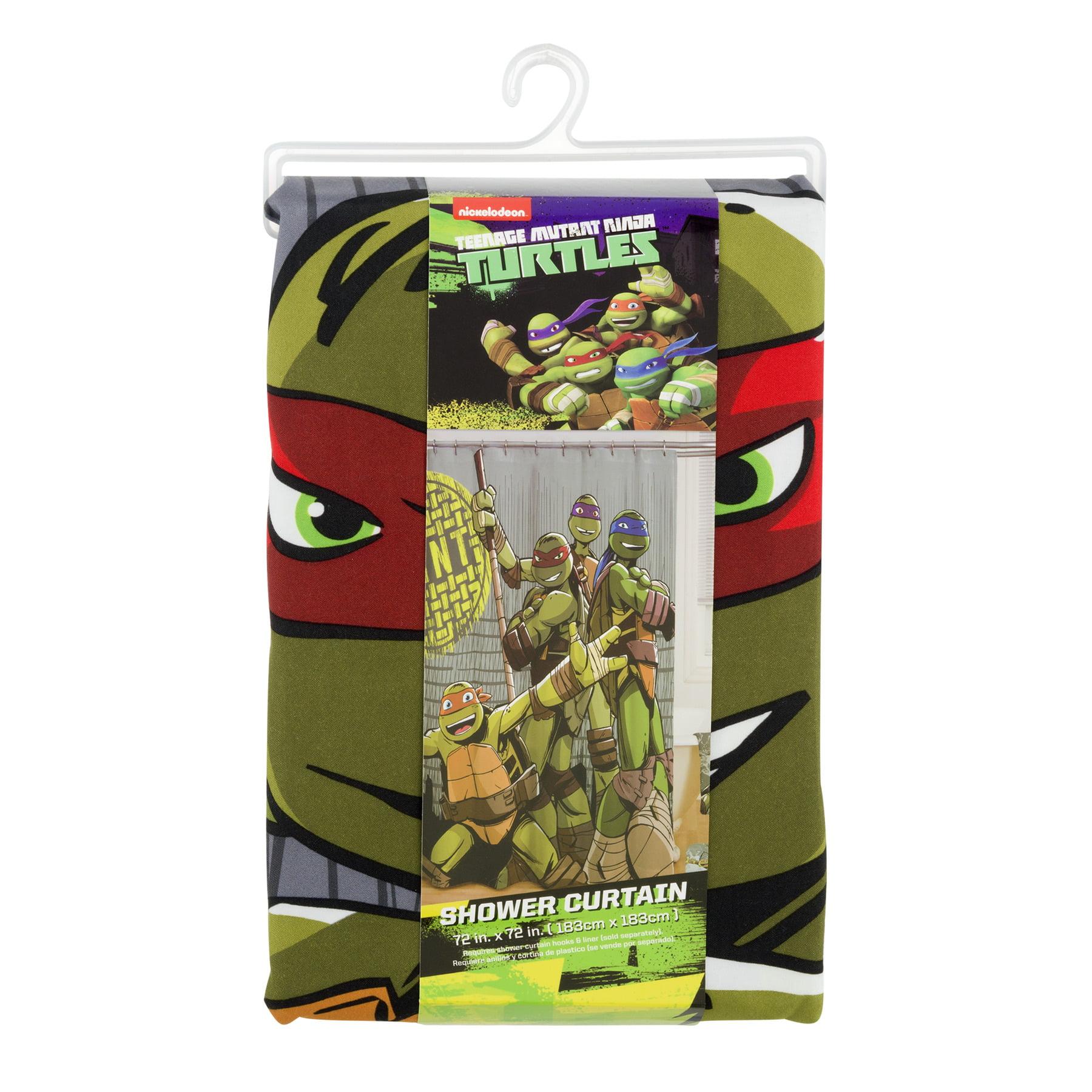 "Nickelodeon Teenage Mutant Ninja Turtles 72"" x 72"" Shower Curtain, 1 Each"